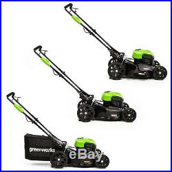 Greenworks 20-Inch 40V Push Mower 4Ah Battery and Quick Charger Included 2516302