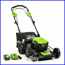 Greenworks 2516402 CORDLESS 21 self propelled 40V BATTERY & CHARGER INCLUDED