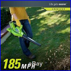 Greenworks 40V 185 MPH Variable Speed Cordless Blower Vacuum, Battery Not Includ