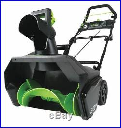 Greenworks Pro Snow Thrower, Electric, Clearing Path 20 Includes 80V Battery