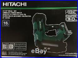 Hitachi NT1865DM 16 gage Straight Trim Nailer 18 volt Kit including battery NEW