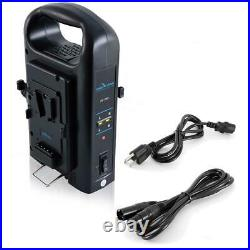 IndiPRO Two 95Wh V-Mount Lithium-Ion Batteries with Dual Battery Charger Kit
