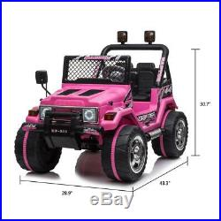 Kids Ride On Car Toy 12V Battery LED Light 3 Speed with Remote Control