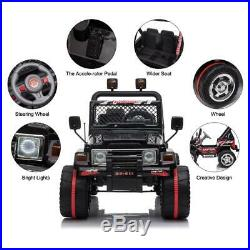 Kids Ride on Truck Car WithRemote Control 12V Battery Powered Electric Black