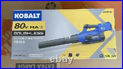 Kobalt 80 Volt Max Lithium Ion Cordless Leaf Blower (Battery/Charger Included)