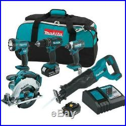 Makita Cordless Worklight Combo Kit 18-Volt Lithium-Ion Tool Bag Included 5-Tool
