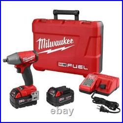 Milwaukee 2755-22 M18 FUEL 18V 1/2-Inch Compact Impact Wrench with Batteries