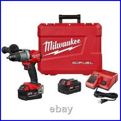 Milwaukee 2803-22 M18 FUEL 18V 1/2-Inch Cordless Lithium-Ion Drill Driver Kit
