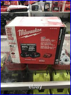 Milwaukee 48-59-1862S X2 Battery, 18V, Battery Charger Included