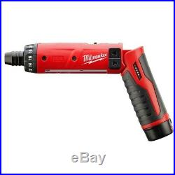 Milwaukee Cordless Screwdriver M4 4V 1/4 in. Hex 1 Battery Charger INCLUDED