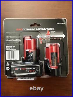 Milwaukee M12 Battery 2 Pack Includes 1EA CP3.0 & 1EA XC6.0