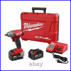 Milwaukee M18 FUEL Li-Ion 1/2 in. Compact Impact Wrench Kit 2755-22 New