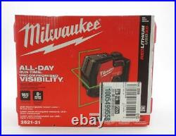 Milwaukee USB Rechargeable Green Cross Line Laser Red/Black (3521-21)