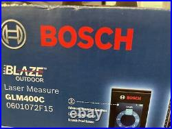 NEW Bosch Blaze Outdoor 400ft Laser Measure With Bluetooth & Viewfinder GLM400C