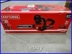NEW CRAFTSMAN V20 20-Volt 12-inch Electric Chainsaw WITH BATTERY INCLUDED