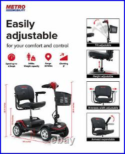 NEW Drive Mobility Scout Compact Travel Power Scooter 4 Wheel Included Battery