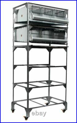 NEW GQF 0316 Quail Poultry Battery Stack Breeding Pen Stand PENS NOT INCLUDED