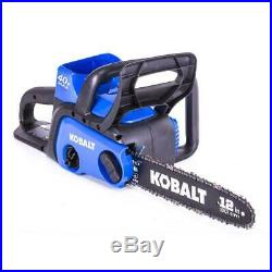 NEW Kobalt 40-volt Lithium Ion 12-in Cordless Electric Chainsaw BATTERY INCLUDED