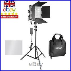 Neewer 2 Pieces Bi-Color 660 Led Video Light And Stand Kit Includes(2)3200-5600