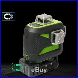 New 3D 12 Cross Green Line Rotary Laser Level Self Leveling 4°±1° + Target Plate