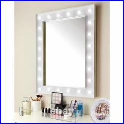 New Design Hollywood 24 LED Bulb Mirror Needs 3 x AA batteries (not included)