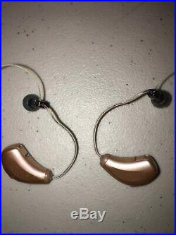 PAIR STARKEY HEARING AIDS MUSE IQ12400 RIC remote control batteries included
