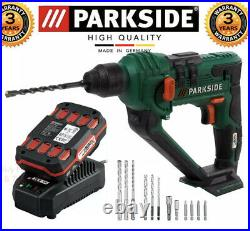 Parkside Cordless Hammer Drill 20v Team Battery And Charger Included Pabh20