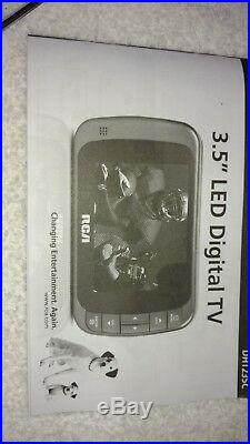 RCA Portable LED HD Digital TV 3.5-Inch AA Battery Powered / includes power cord