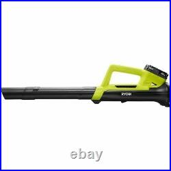 RYOBI 18V CORDLESS LEAF BLOWER 90 MPH 200 CFM with Battery and Charger Included