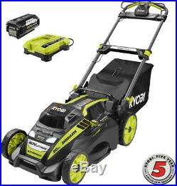 RYOBI 20 in. Cordless Self-Propelled Mower 5.0 Ah 40V Battery + Charger Included