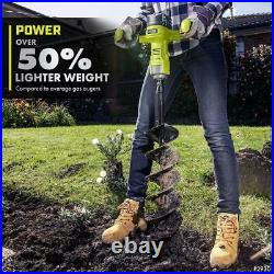 RYOBI ONE+ HP Cordless Earth Auger 18V Brushless 6 Inch Bit Included Tool Only