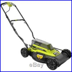 RYOBI Push Lawn Mower 18 in. 40-Volt Lithium-Ion Battery/Charger Included