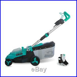 Realm 14-Inch 40V Lithium-Ion Cordless Lawn Mower, 4.0 AH Battery Included