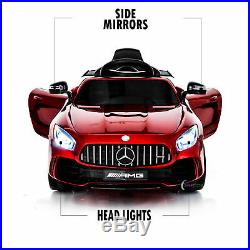 Ride On Toys For Kids 12V Battery Car Mercedes-Benz Remote Control MP3 Music Red