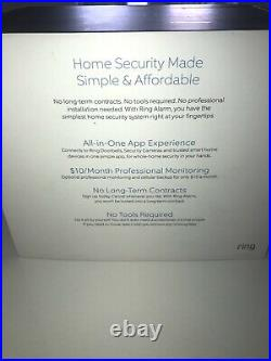 Ring Alarm Wireless Home Security System. Work With Ring. New. Bonus Included