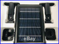 Ring Stick Up Cameras and Solar Panel Bundle Includes 2 Cams and 2 Solar Panels