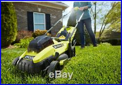 Ryobi 18-V Cordless Battery Walk Behind Push Lawn Mower Battery-Charger Included