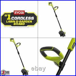 Ryobi ONE+ 9 in. Cordless Lawn Edger 18-Volt Lithium-Ion Battery Not Included