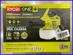 Ryobi One + 18 Volt Cordless Chemical Fogger Mister Battery Charger INCLUDED