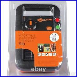 SOLAR S10 ELECTRIC FENCE ENERGISER Gallagher Panel Battery Included Fencing