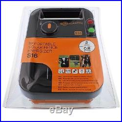 SOLAR S16 ELECTRIC FENCE ENERGISER Gallagher Panel Fencing Battery Included