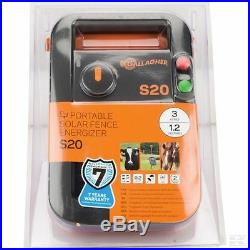 SOLAR S20 ELECTRIC FENCE ENERGISER Gallagher Panel Fencing Battery Included