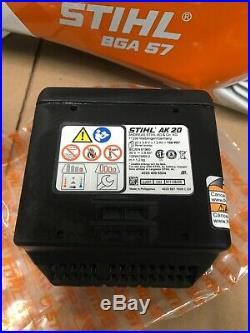 Stihl Battery Powered Blower BGA 57 Battery Charger Included