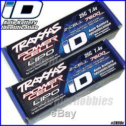 Traxxas completer pack includes (1) 2972 Dual ID charger and (2) 7600mAh lipos