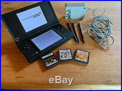 Used Nintendo DSi Black. Works perfect. Brand new battery! 8 games included
