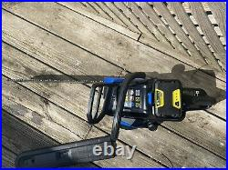 Used Once- Kobalt 80V Cordless Brushless Chainsaw WITH BATTERY PACK INCLUDED