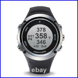 Voice Caddie G2 Hybrid Golf GPS Watch with Slope & Fitness, Black/Silver