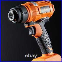 VonHaus 18V Cordless Heat Gun with 4Ah Battery and Charger Includes 3 Nozzles
