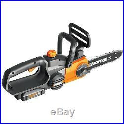 Worx WG322 20V Cordless Chainsaw with Auto-Tension Battery + Charger Included