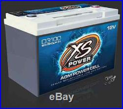 XS Power D3100 12 Volt BCI Group 31 AGM Battery, M6 Terminal Hardware Included